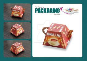 shadzi tea packaging by farandesing
