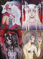 ACEO cards by R0TII