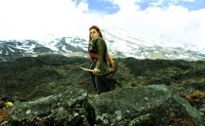 Tauriel on the Tongariro Crossing by celticruins