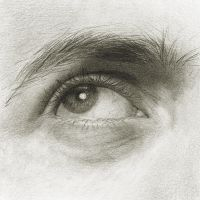 Self-Portrait: Eye Study II by Randy-man