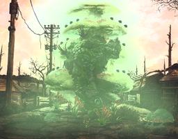 Toxic-golem-in-wasteland by Nazzaroth