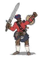 18th Century Scottish Demoman by Keluuu