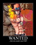 Wanted - Portgas D. Ace by SuzyDrawz