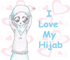 I Love My Hijab by Zhar-nee