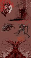 Demon design studies by rubendevela