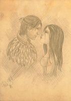 Anders and Hawke (Dragon Age) by polinaart1