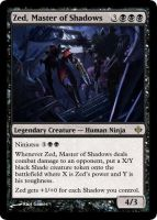 MtG - Zed, Master of Shadows by soy-monk