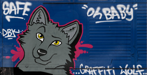 'Graffiti Wolf' by WolfDawgz