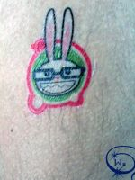 bunny tattoo by wAluCaRd