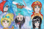 Vanellope and Friends (Not my OCs) by Game-Central-Party