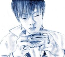 Toshiya and his gameboy $ by Haru-Barton