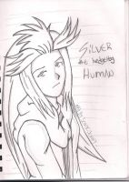 silver the hedgehog human by SONICJENNY