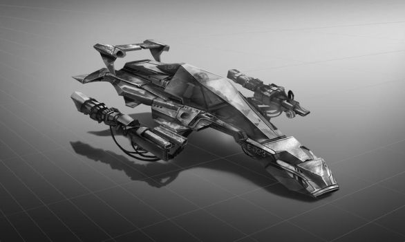 spaceshipBW by MOROTEO56