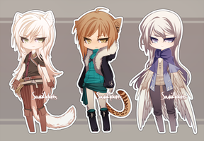 custom adoptables #19 - 21 by SoukiAdopts