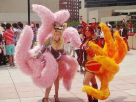 Double Ahri From League of Legends at Otakon by GamerZone18