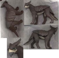 Young Brown Gryph Sculpt by gryphonworks
