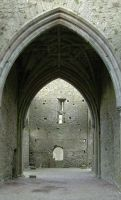 Abbey stone arch door by mjranum-stock