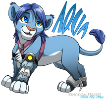 Aqua Lion Cub by Nightrizer