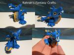 Blue Sparkly Wyvern by Frogata