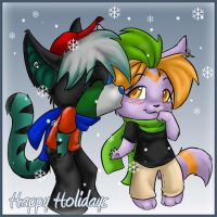 Holiday Chibi_Commish 5 by Kittn622