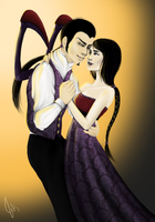 Human Cho'Gath and Darkflame Shyvana by Jaacqs