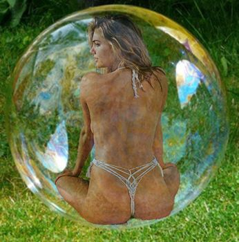 Backside Of Kate Upton In A Bubble by blunose2772