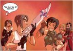 Squall vs. Yuffie by batlesbo