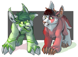Snaggletooth Buddies by MrsDrPepper