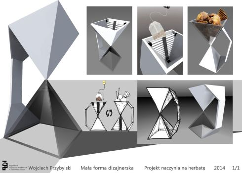 Design Project: Vessel for tea - Hourglass cup by Xperionity