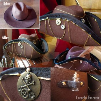 Steampirate Tricorn by Cornelia-Emeunir