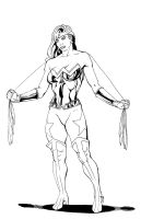Wonder Woman Redesign Inks.... by thelearningcurv