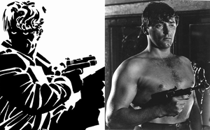 Noir Sin City Recast - Robert Mitchum as Dwight by AtomTastic