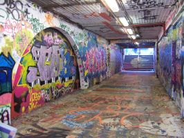 Graffiti Tunnel by wyldcat
