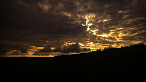 Sunset in Arnisaege in Switzerland by Redstone--Army