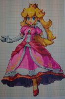 Pixel art Super smash bros: Peach by PaintPixelArt