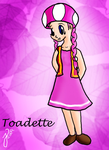 Human Toadette by Luaisy