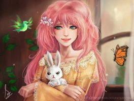 Humanized Fluttershy by HammySan