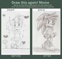 Before and After meme: Classic Amy by Blaze-5
