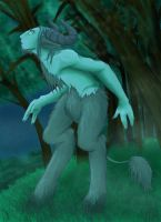 a faun in the moonlight by skitsoneito