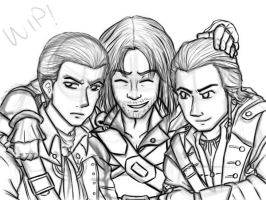 WIP!The Kenways by Pyro-Archer