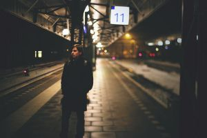 Train waiting by Daphinitly