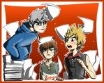 Crossover: Jack Frost, Hiccup and Roxas by SouL00020