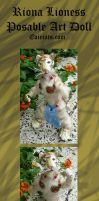 Riona The Lioness Posable Art Doll by Eviecats