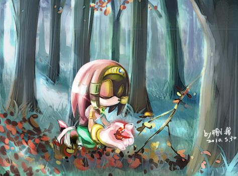 Pray in the forest by tikal