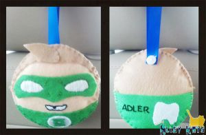 Green Lantern Tooth Pillow by Alley-Kats
