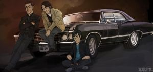 The Winchester and Marco by the-evil-legacy