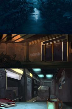 backgrounds by HI-artist