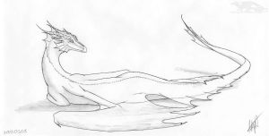 120308 sketch dragoness by axe-ql
