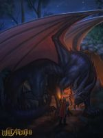 Seeking favour from dragons by Amanda-Kihlstrom