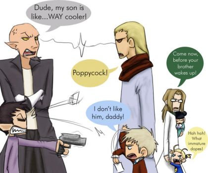 Fathers and Sons by ladychimera